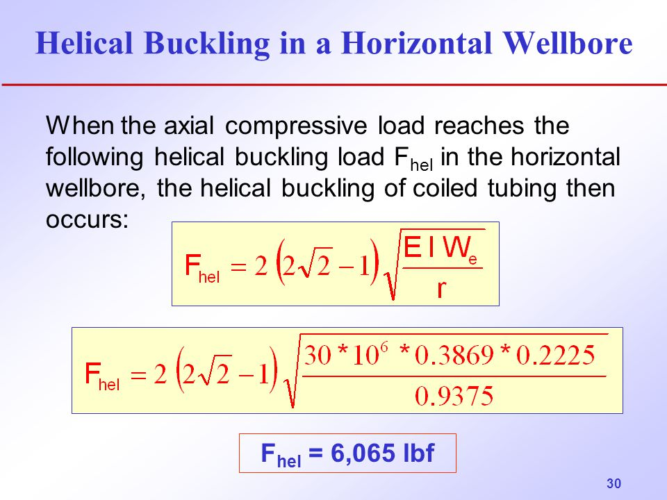 Helical Buckling in a Horizontal Wellbore