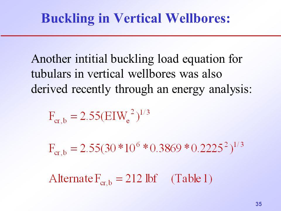 Buckling in Vertical Wellbores:
