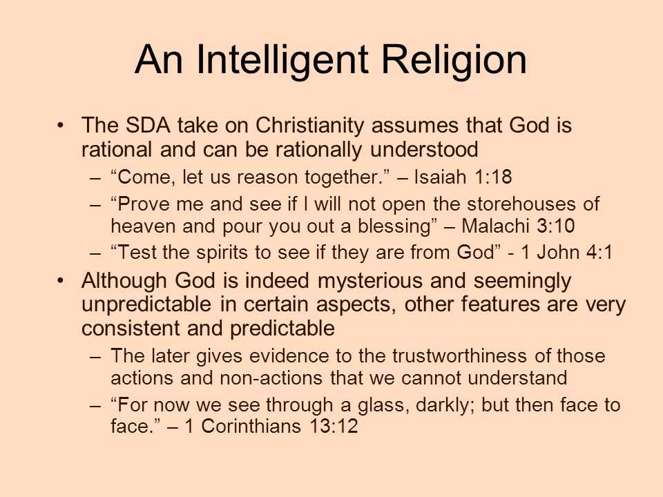 An Intelligent Religion