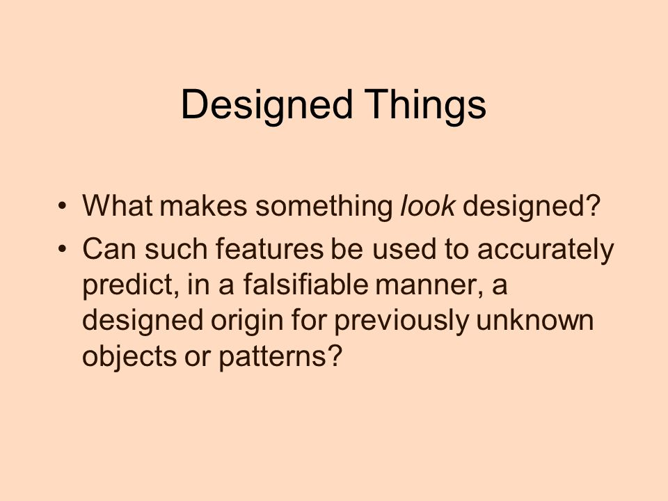 Designed Things What makes something look designed
