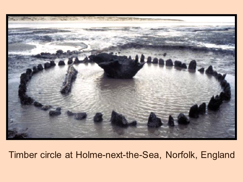 Timber circle at Holme-next-the-Sea, Norfolk, England