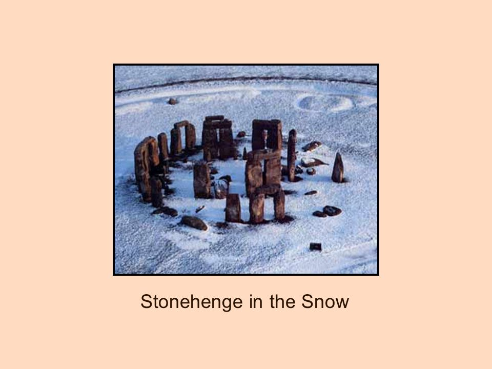 Stonehenge in the Snow