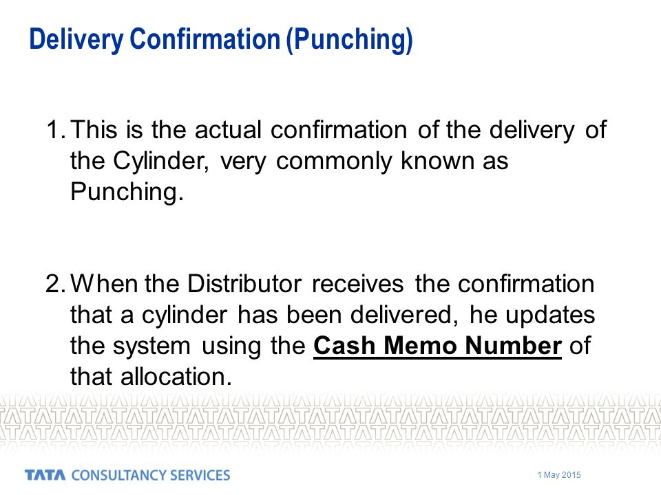 Delivery Confirmation (Punching)