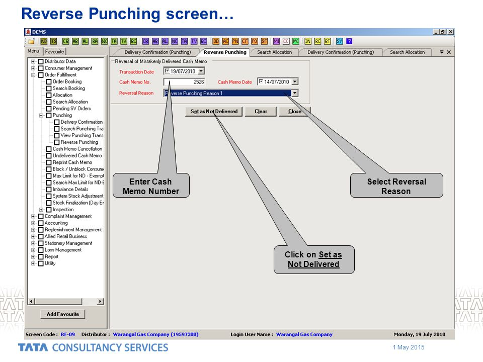 Reverse Punching screen…
