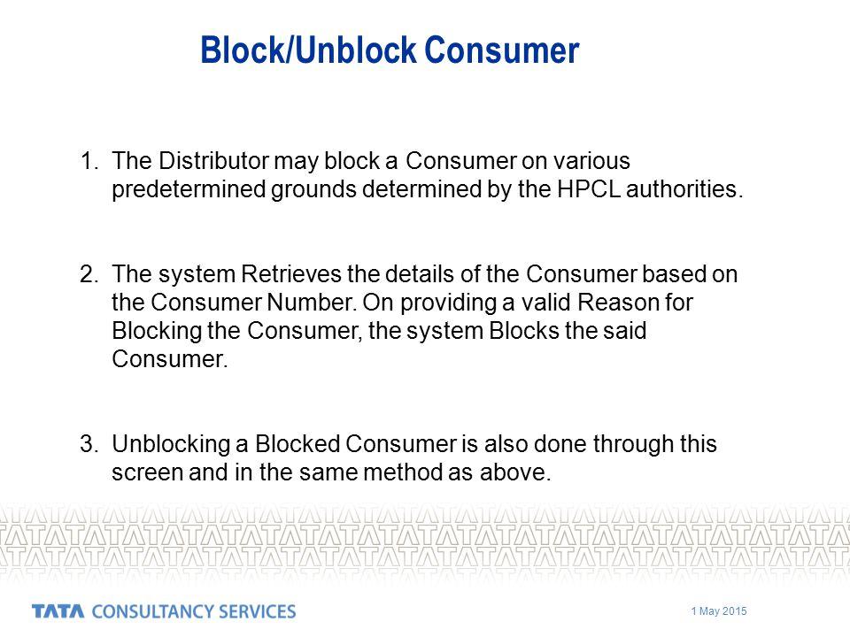 Block/Unblock Consumer