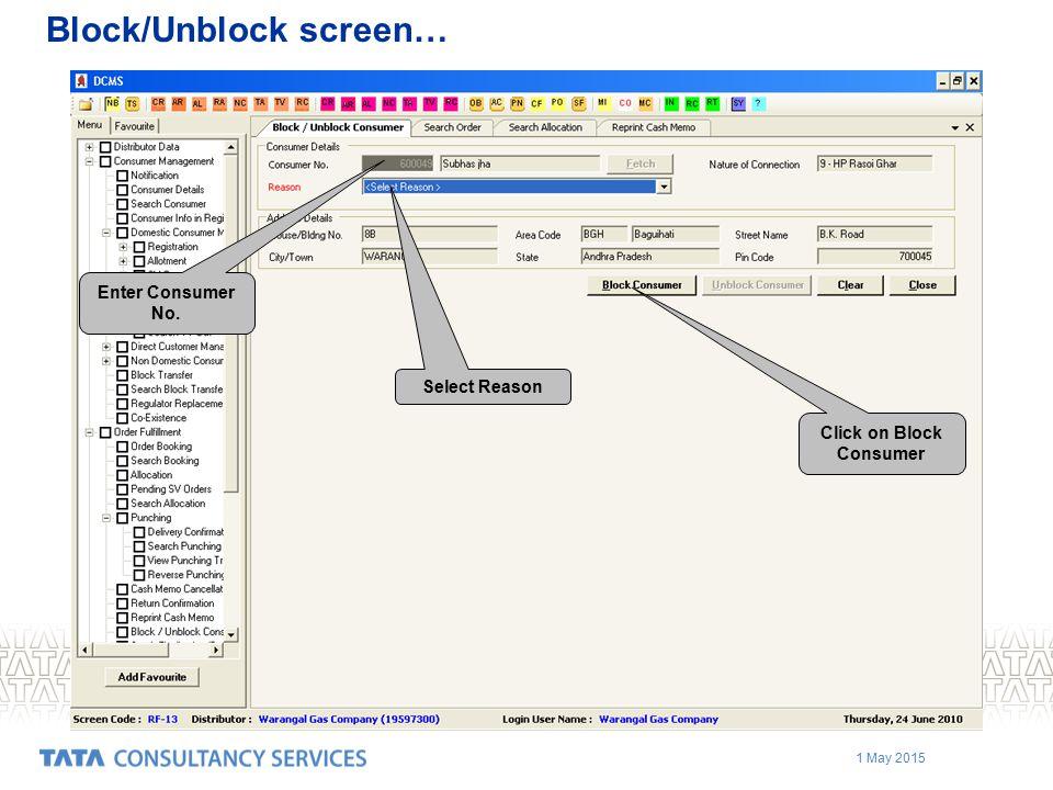 Block/Unblock screen…