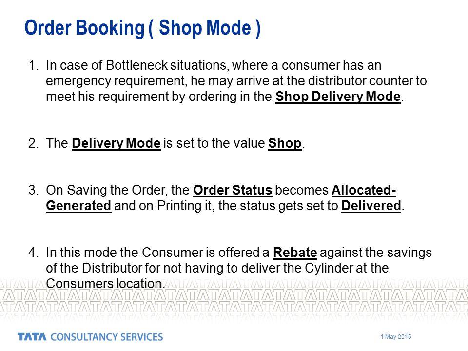 Order Booking ( Shop Mode )