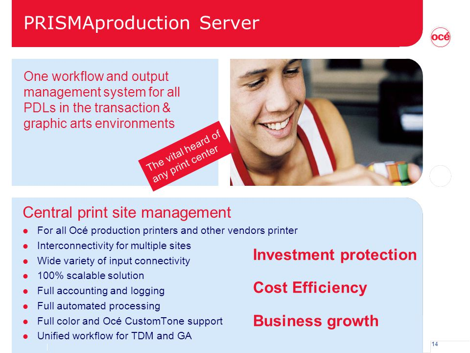 PRISMAproduction Server