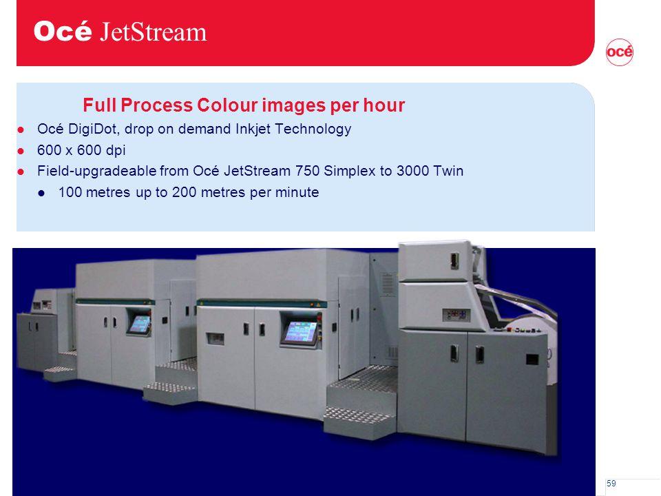 Océ JetStream Full Process Colour images per hour