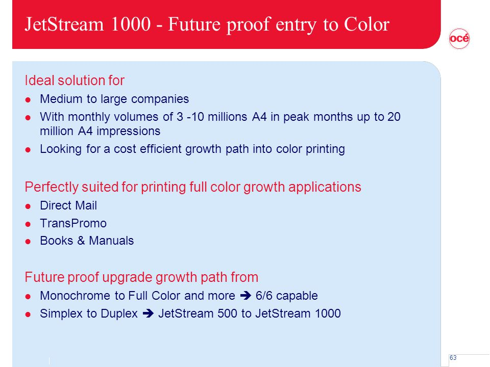 JetStream 1000 - Future proof entry to Color