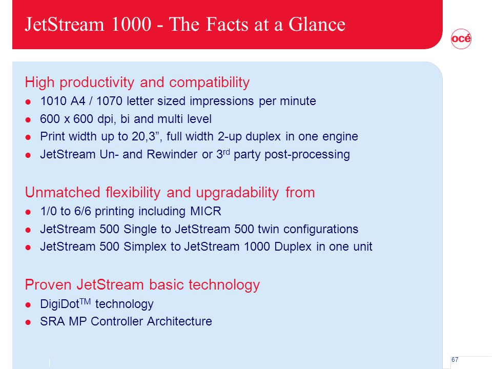 JetStream 1000 - The Facts at a Glance