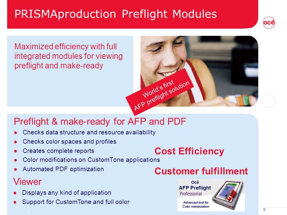 PRISMAproduction Preflight Modules
