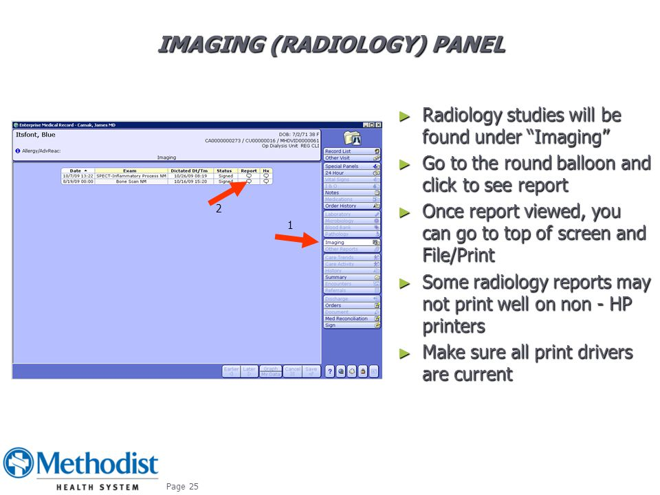 Imaging (Radiology) Panel