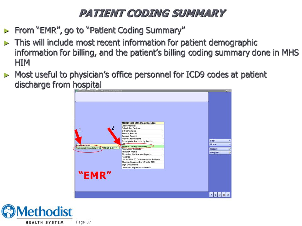 PATIENT CODING SUMMARY