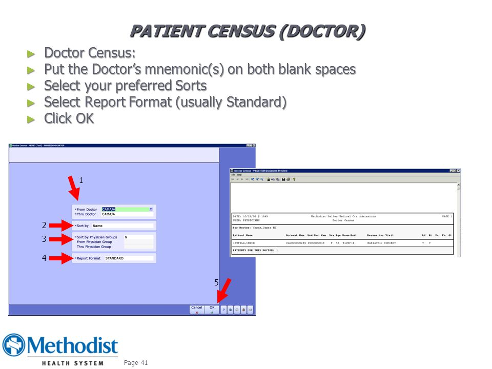 Patient CENSUS (Doctor)