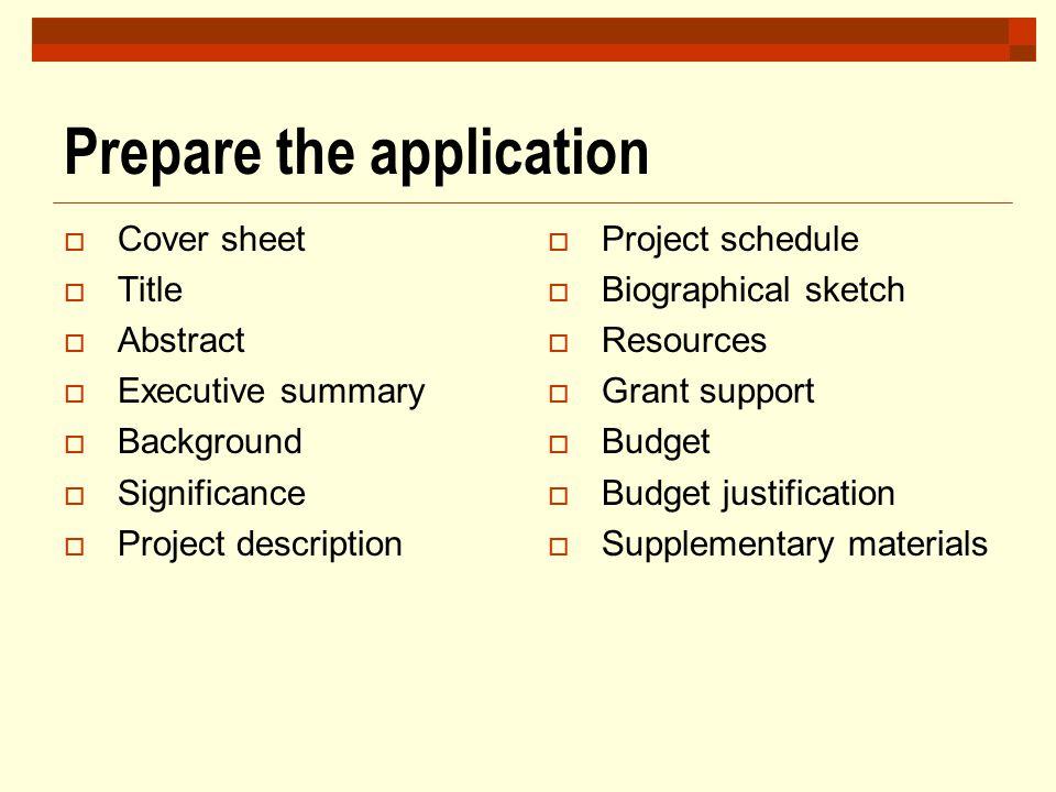 Prepare the application