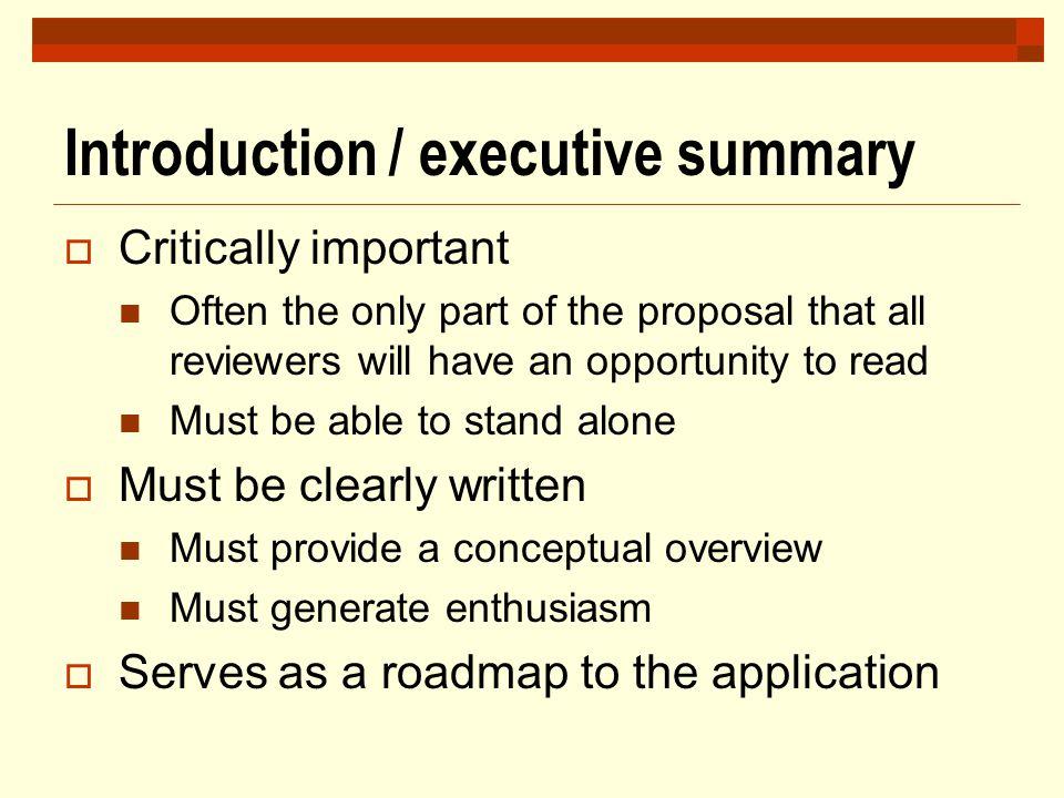 Introduction / executive summary