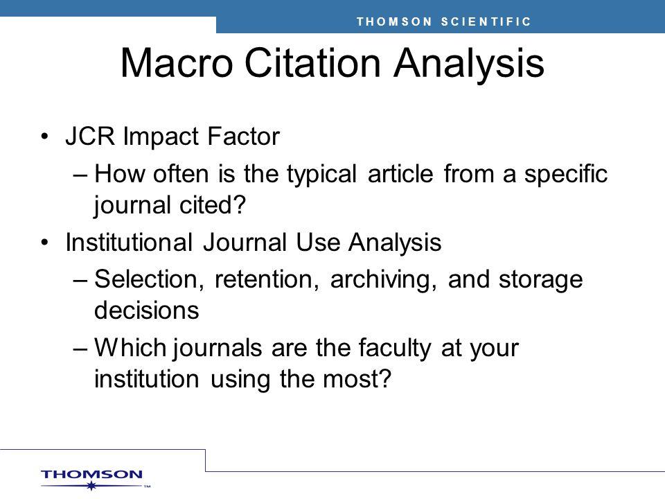 Macro Citation Analysis