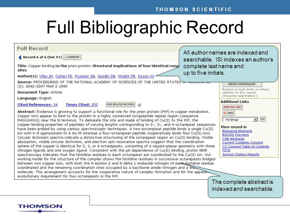 Full Bibliographic Record