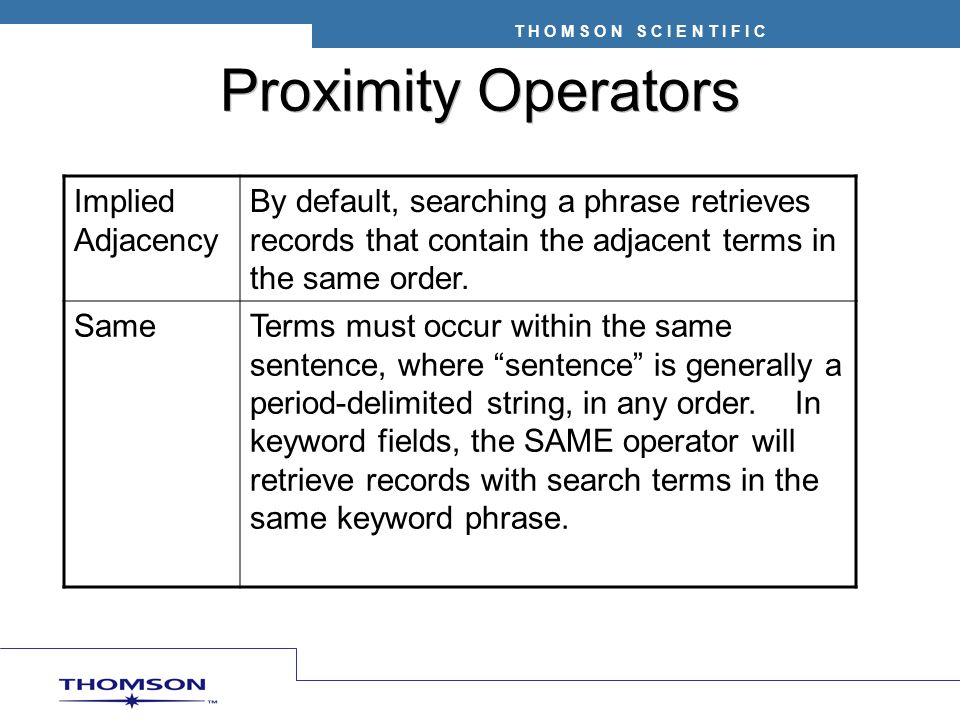 Proximity Operators Implied Adjacency