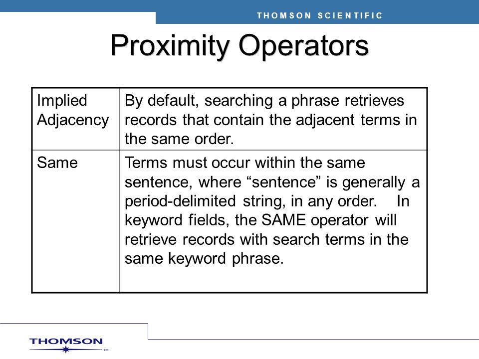 Proximity Operators Implied Adjacency