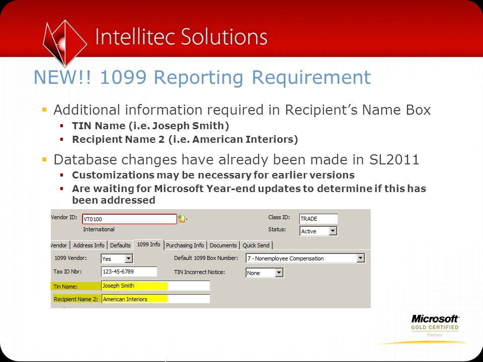 NEW!! 1099 Reporting Requirement