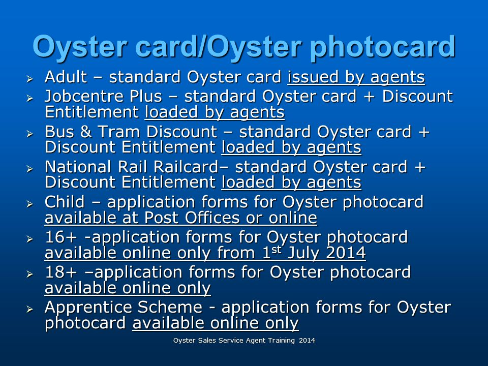 Oyster card/Oyster photocard