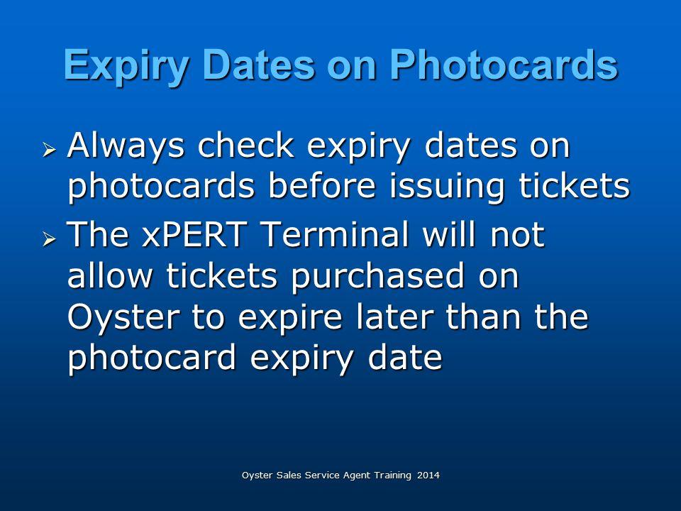 Expiry Dates on Photocards