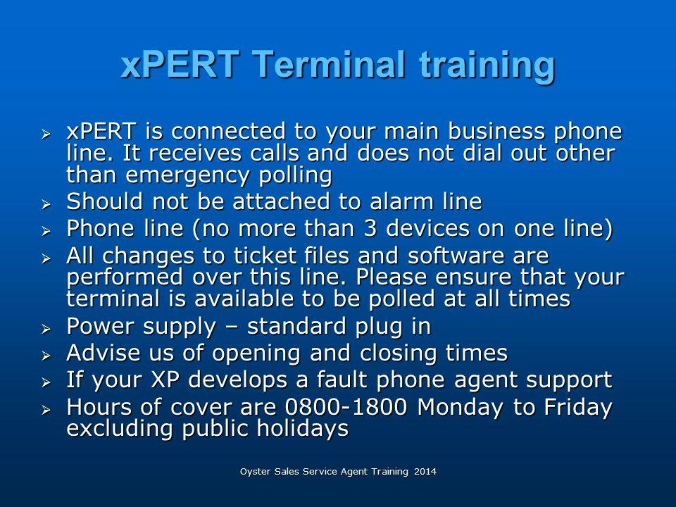 xPERT Terminal training