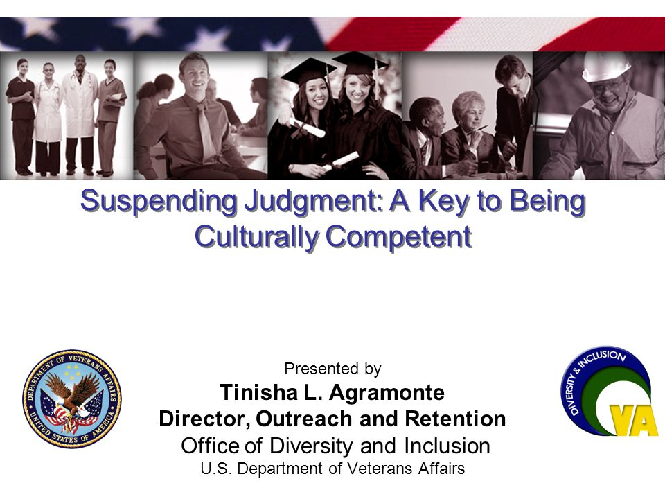 Suspending Judgment: A Key to Being Culturally Competent