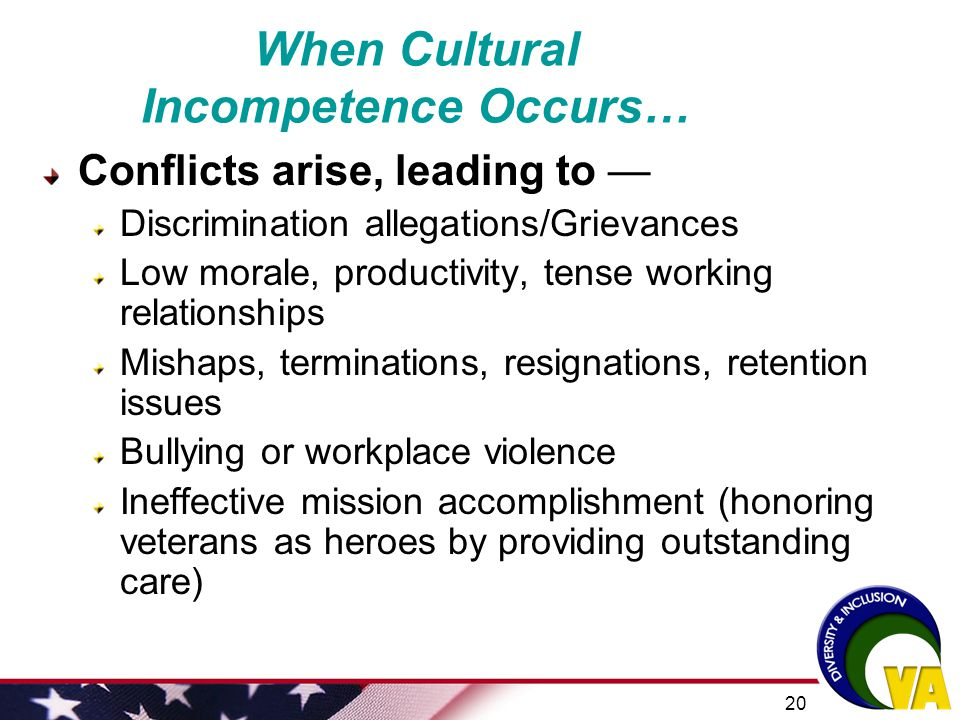 When Cultural Incompetence Occurs…