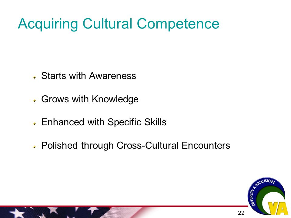 Acquiring Cultural Competence