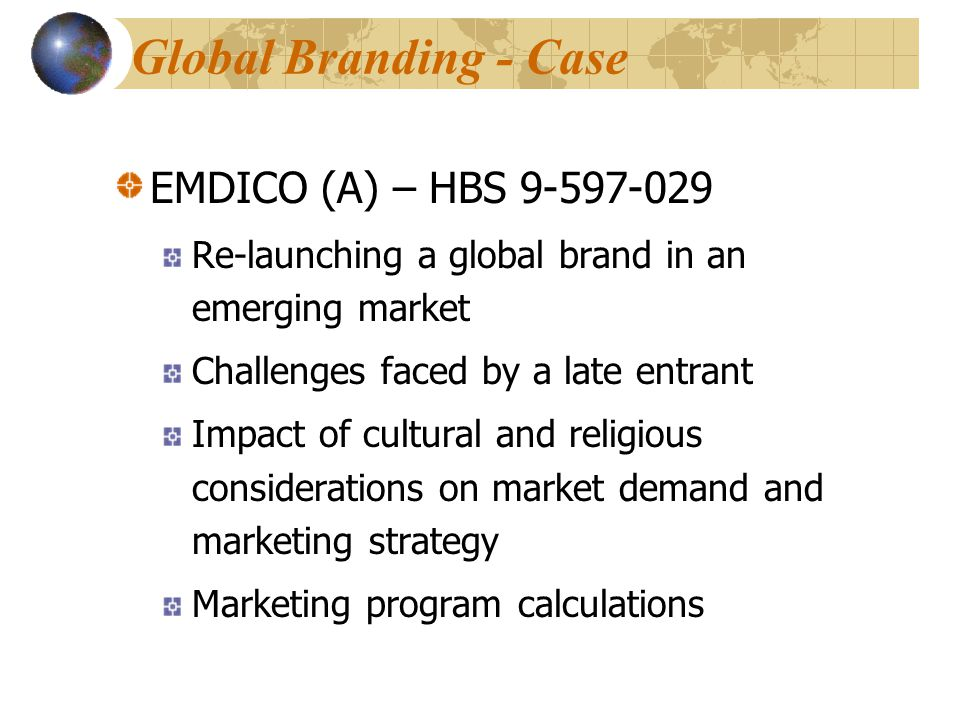Global Branding - Case EMDICO (A) – HBS 9-597-029