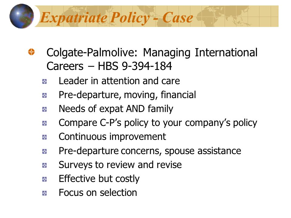 Expatriate Policy - Case