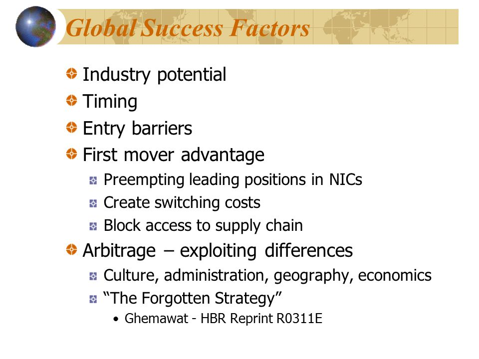 Global Success Factors