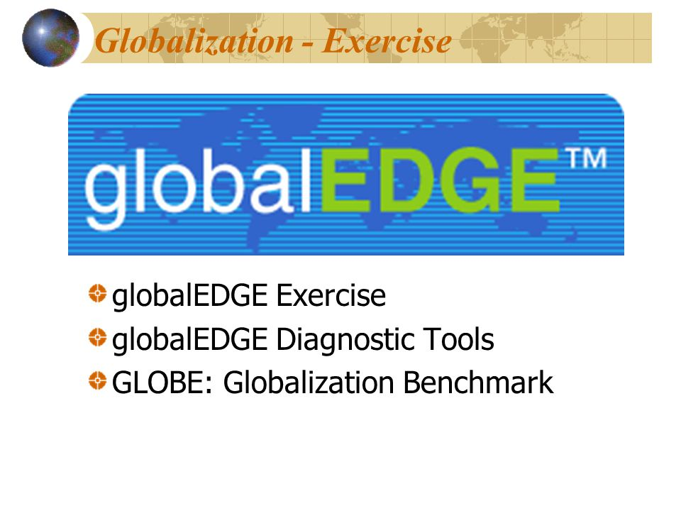 Globalization - Exercise