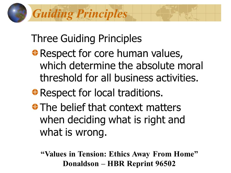 Guiding Principles Three Guiding Principles