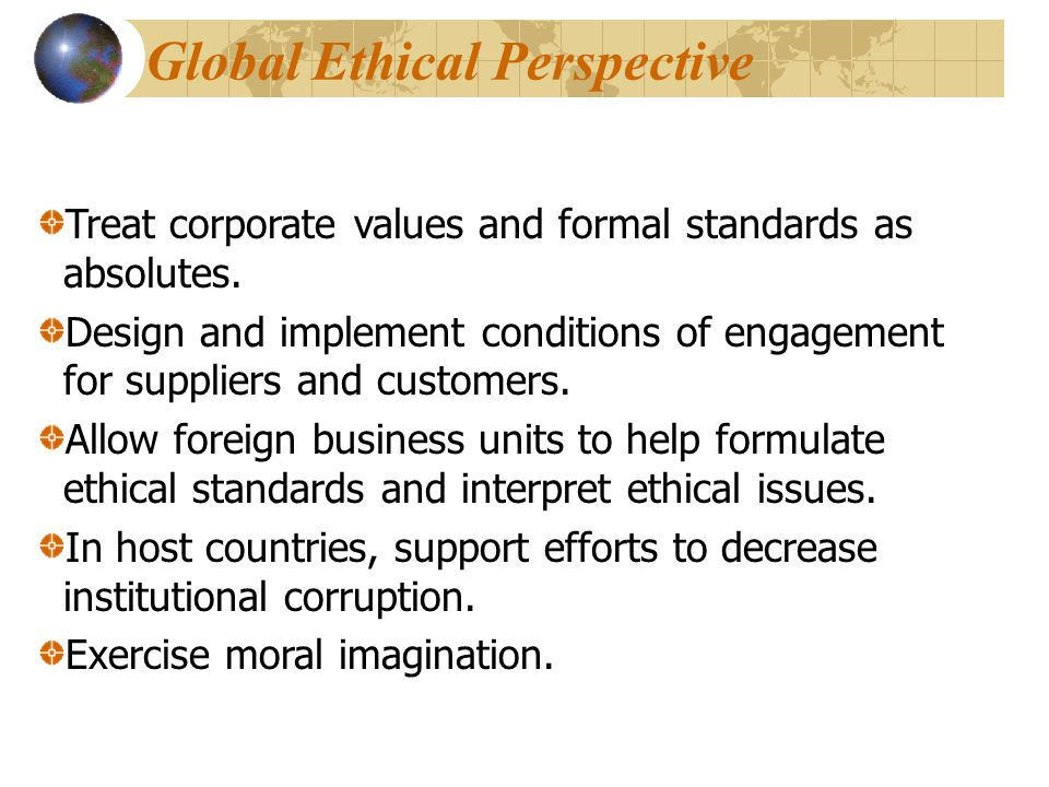 Global Ethical Perspective
