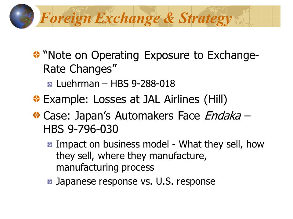 Foreign Exchange & Strategy