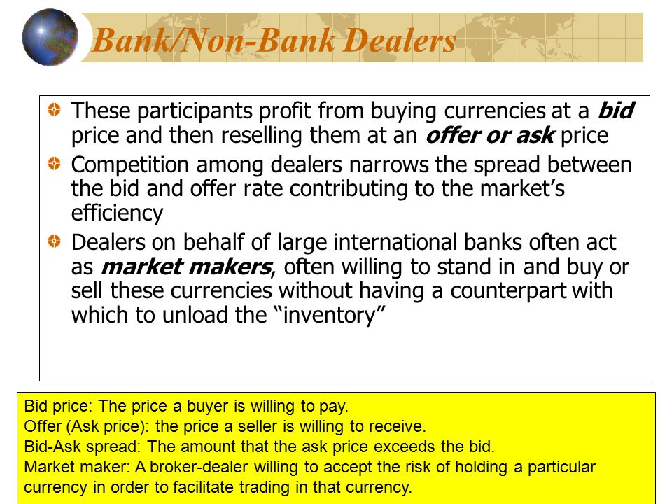 Bank/Non-Bank Dealers