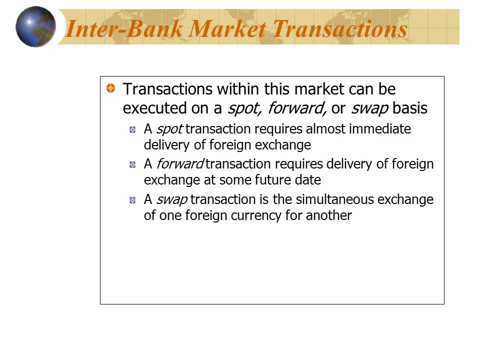Inter-Bank Market Transactions