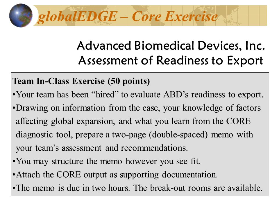 globalEDGE – Core Exercise