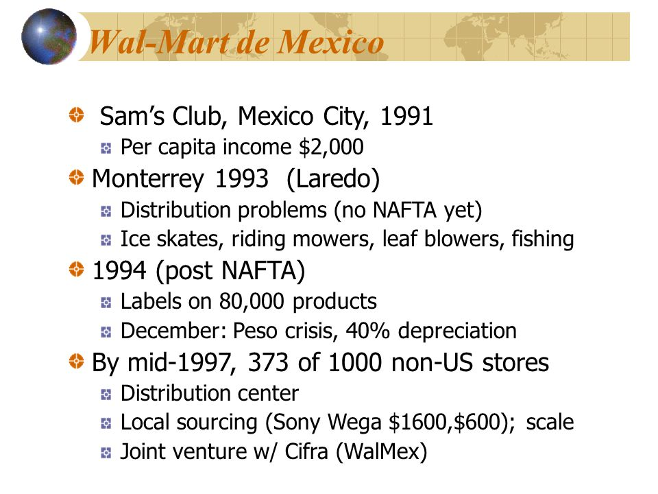Wal-Mart de Mexico Sam's Club, Mexico City, 1991
