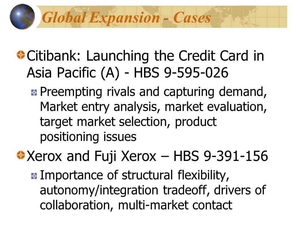 Global Expansion - Cases