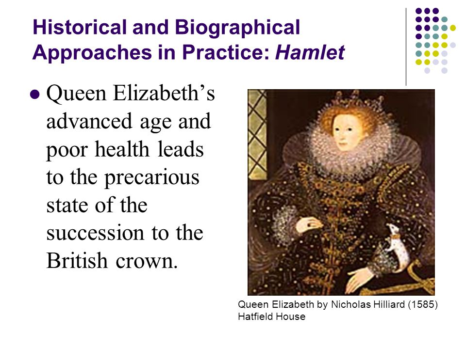 Historical and Biographical Approaches in Practice: Hamlet