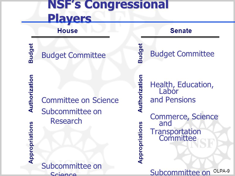 NSF's Congressional Players