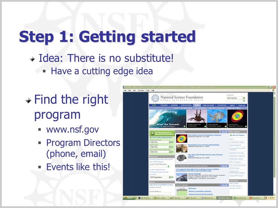 Step 1: Getting started Find the right program