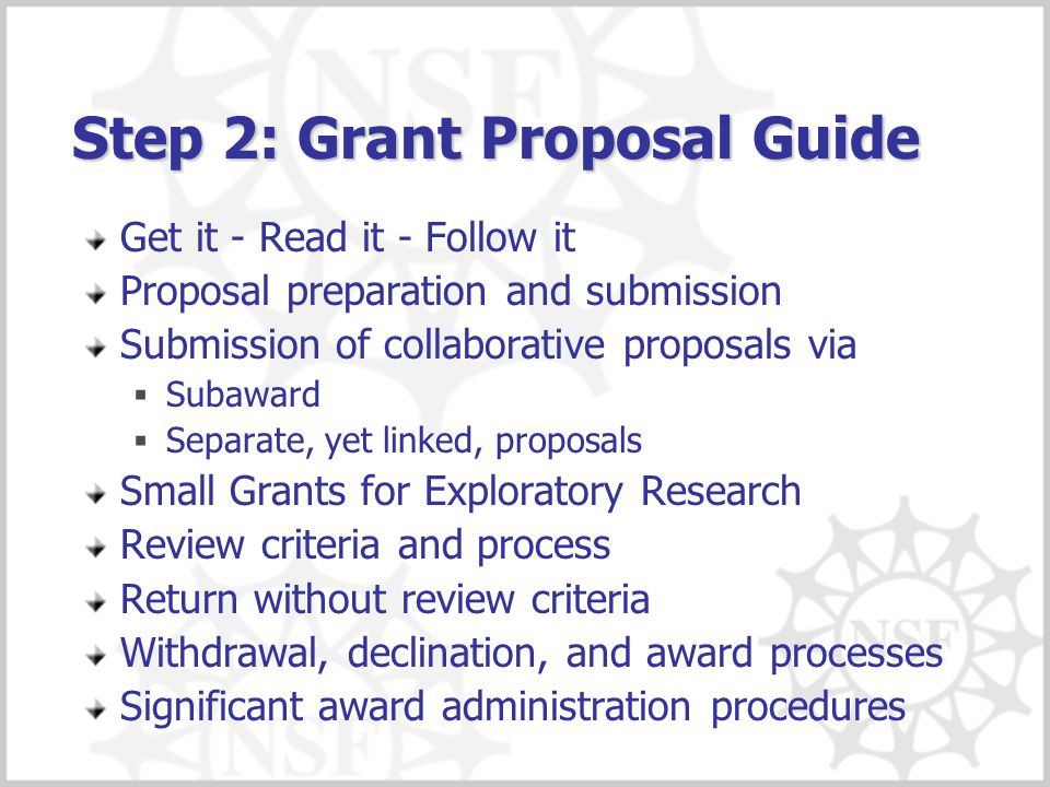 Step 2: Grant Proposal Guide