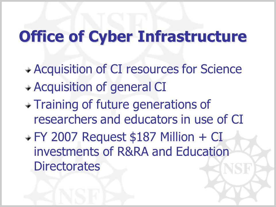 Office of Cyber Infrastructure