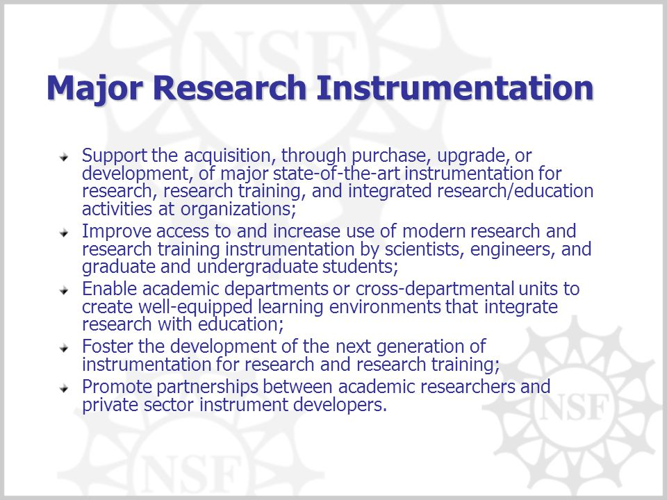 Major Research Instrumentation